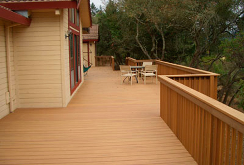 Deck patio ideas and examples by sustainable structures for Sustainable decking
